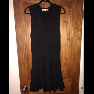 Rib Knit Little Black Dress